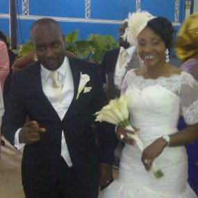 Ugochukwu and his wife on their wedding
